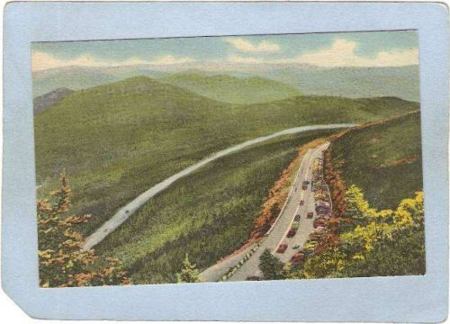 New York Whiteface Mt View Of Parking Lot & Highway & Esther Mountain ny_b~1404