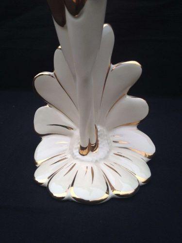 24 karat gold AHURA porcelain ballerina . Italian high quality porcelain