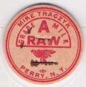 New York Perry Milk Bottle Cap Name/Subject: Mike Traczyk Grade A Raw Milk~279