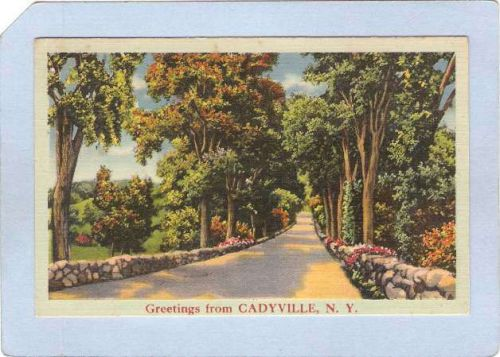New York Cadyville Greetings From Cadyville NY ny_box3~1139