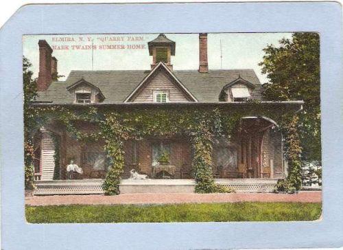 New York Elmira Mark Twains Summer Home Quarry Farm East Hill Elmira NY ny~1029