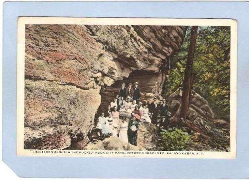 New York Rock City Sheltered Beneath The Rocks Rock City Park ny_box2~672