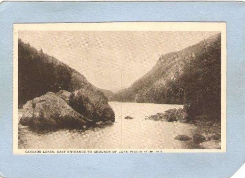 New York Lake Placid Cascade Lakes East Entrance To Grounds Of Lake Placid~1768