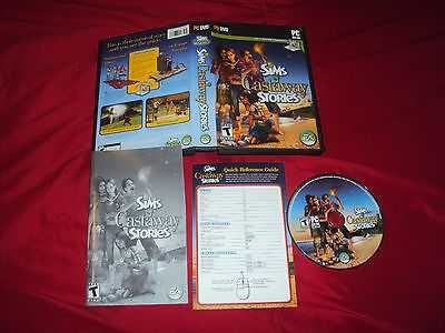 THE SIMS CASTAWAY STORIES PC DISC MANUAL KEY COM ART & CASE NEAR MINT HAS CODE