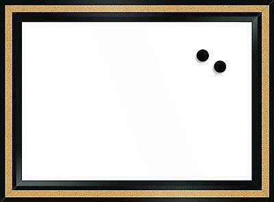 """Magnetic Drawing White Dry Erase Board 18"""" x 22"""" Writing School Cork Note Frame"""