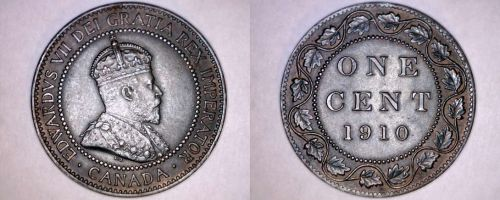 1910 Canada 1 Large Cent World Coin - Canada