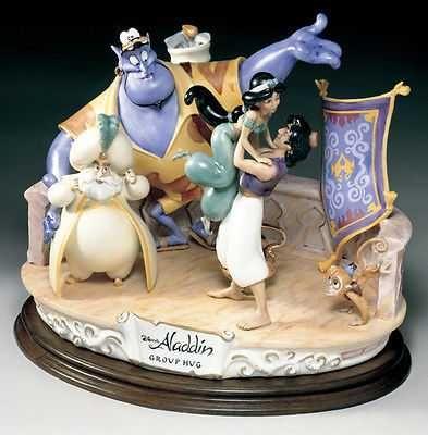 Disney Aladdin Group Hug Capodimonte Laurenz C.O.A. Original Box