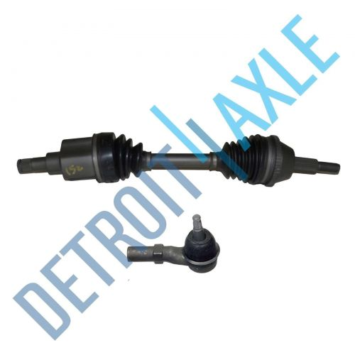 Kit - Front Passenger Side CV Drive Axle w/ ABS AX4N or 4F50N + Outer Tie Rod