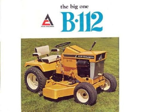 ALLIS CHALMERS B-112 SIMPLICITY 3012 TRACTOR MANUALs 75pg Operations Parts  List