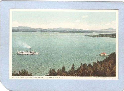 New York Lake Champlain Across The Lake From Hotel Champlain ny_box3~1146