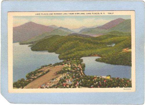 New York Lake Placid Lake Placid & Mirror Lake From Airplane ny_box5~1711