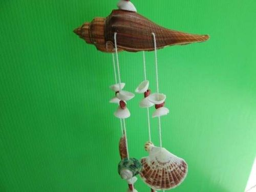Pirate Wind Chime Nature Sea shell from Tropical Beach Nautical Villa Boat Decor