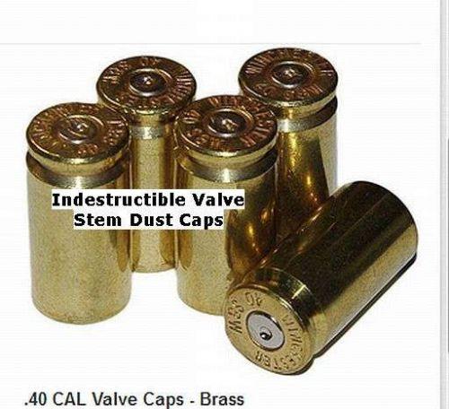"""15 - INDESTRUCTIBLE - BRASS """"SELF-ADJUSTING"""" VALVE STEM CAPS - TPMS COMPATIBLE"""