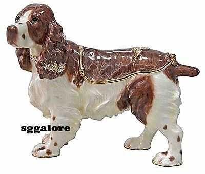 RUCINNI Swarovski Crystals BeJeweled COCKER SPANIEL DOG Trinket Jewelry BOX DOGS