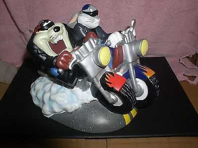 Tazmainian Devil Taz Buggs Bunny Motor Cycle Warner Brothers Looney Tunes Bank