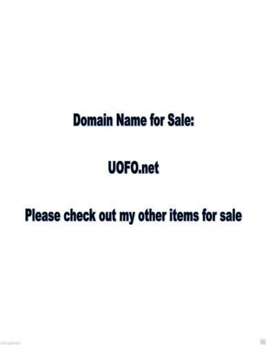 Domain Name - UOFO.net - great name for a website