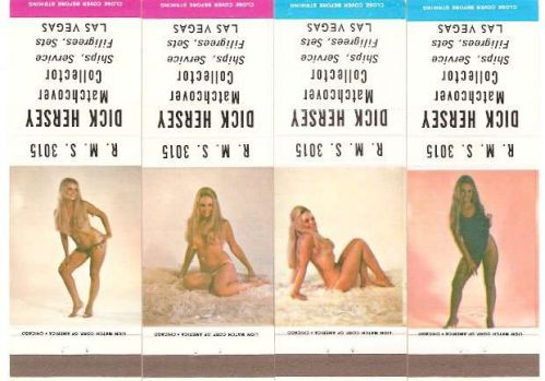 Nevada Las Vegas Matchcover Set Pin Up / Nudes / Girlie / Glamour R. M. S.~151