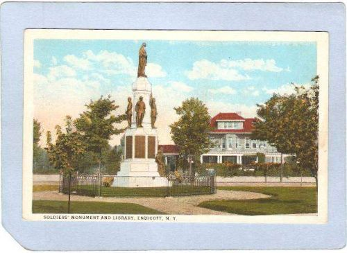 New York Endicott Soldiers Monument & Library ny_box2~619