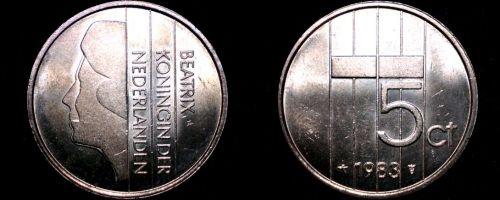 1983 Netherlands 5 Cent World Coin