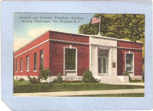New York Fredonia Dunkirk & Fredonia Telephone Building Serving Chautauqua~912