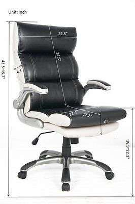 Comfort Chair Boss Manager Office High-Back Leather Padded Computer Desk Luxury