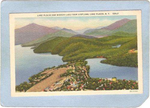 New York Lake Placid Lake Placid & Mirror Lake From Airplane ny_box5~1712