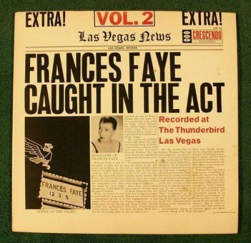 FRANCES FAYE ~ Frances Faye Caught In The Act - Vol. 2 / 1959 Pop LP