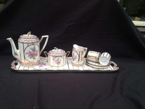 Antique porcelain MOKKA TETE A TETE marked NEU-MEISSEN + NO 50