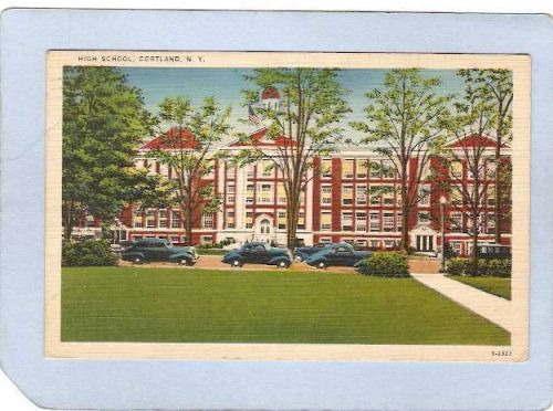 New York Cortland High School W/Old Cars ny_box3~1250