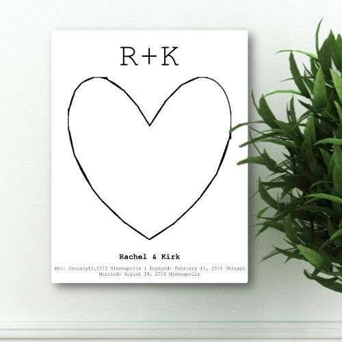 Our Story Guestbook Keepsake Canvas - Free Personalization
