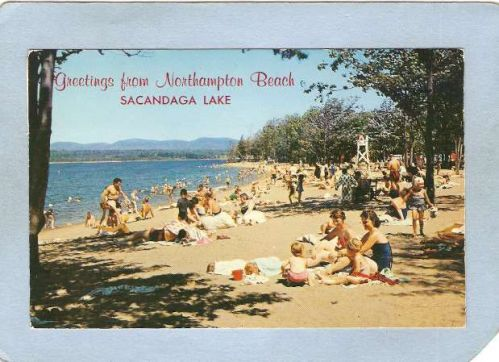 New York Sacandaga Lake Gretings From Northampton Beach ny_box5~1965