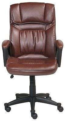 Chair Furniture Leather Executive Serta Office Comfortable Manager Desk Computer