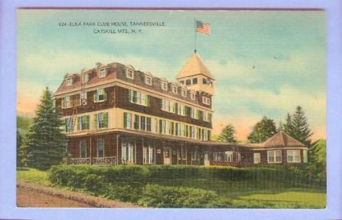 New York Tannersville Catskill Mts Elka Park Club House View Large Old Bui~82
