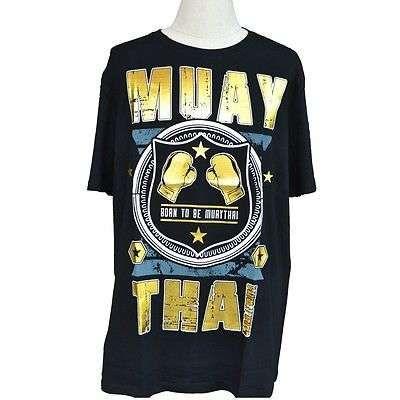 MUAY THAI MEN TOP TEE T-SHIRT CASUAL FASHION SHORT SLEEVE 100% COTTON SIZE XL