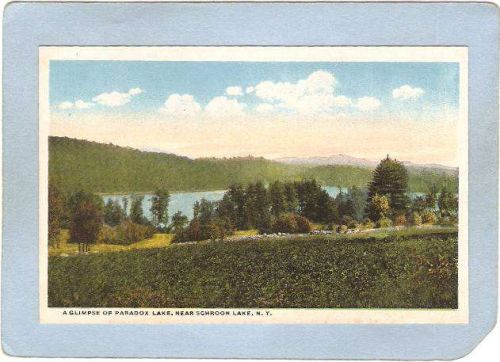 New York Schroon Lake A Glimpse Of Paradox Lake ny_box5~1782