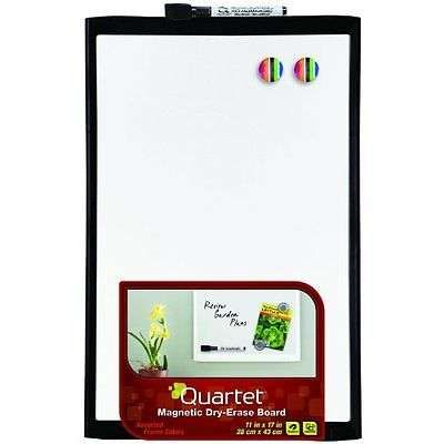 Dry Erase Board 11x17 Inches Black Frame 21 Whiteboard Marker Office Presentatio