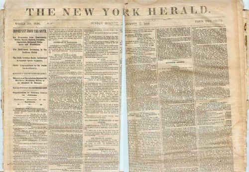 New York New York City Newspaper Title: New York Herald Date: Nov-11-1860~2