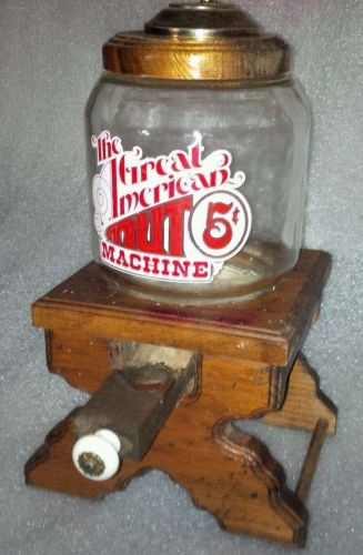 Great American Nut Machine Stand Original-Glass Repro