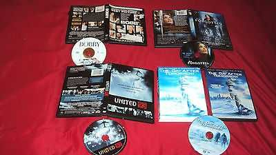 BOBBY + THE DAY AFTER TOMORROW + THE FORGOTTEN + UNITED 93 DVD'S NEAR MINT TO VG