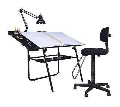 Chairs Padded Drafting Seat Back Office Boss Desk Furniture Chrome Home Gift Wow