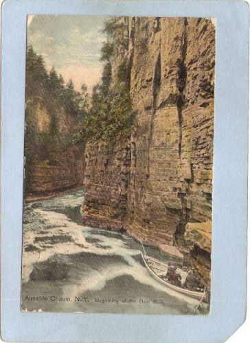 New York Ausable Chasm Beginning Of The Boat Ride ny_box5~1445