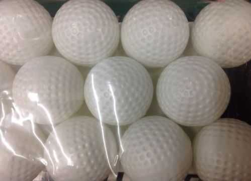 12-Pack - Solid Practice Golf Balls - White Dimple Surface Indoor/Outdoor - NEW!