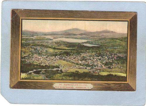 New York Saranac Lake Saranac Lake Village Brown Border ny_box5~1954