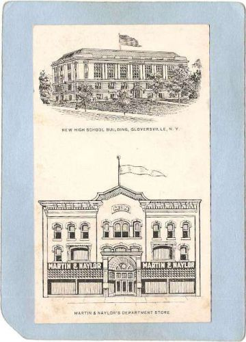 New York Gloversville 2 Drawings New High School Building & Martin & Naylo~2004