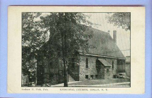 New York Holly Episcopal Church View Old Stone Church~168
