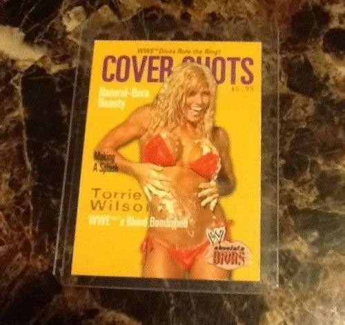 2002 Fleer Torrie Wilson Cover Shot 7 0f 10 CS Card WWE WWF Rare
