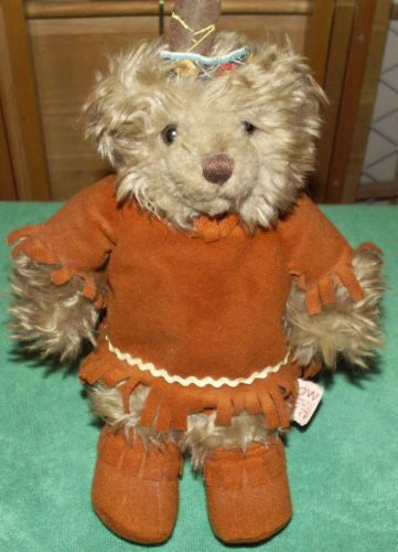 Native American Teddy Bear and Stand - Really nice!
