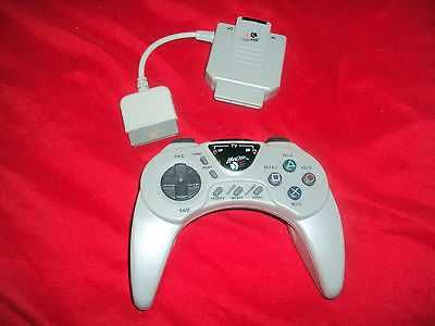 MAD CATZ PLAYSTATION WIRELESS CONTROLLER WITH RECEIVER VG CONDITION
