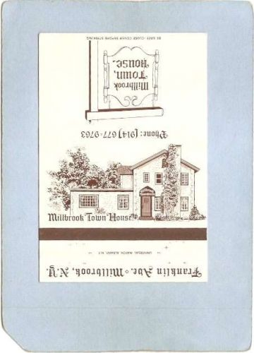 New York Millbrook Matchcover Millbrook Town House Franklin Ave ny_box4~2084