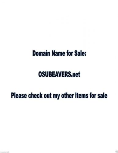 Domain Name - OSUBEAVERS.net - great name for a website